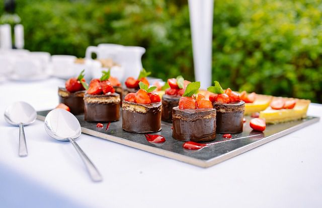 Strawberry and Chocolate Dessert Cutting Edge Catering Display